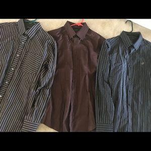 Sean John Casual Button Up Down lot sz M dress new